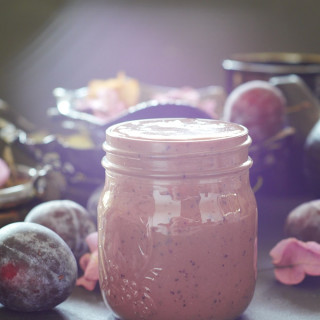 Spiced Chocolate Plum Smoothie