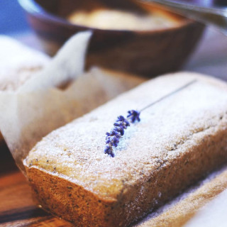 Mini Lemon Poppy Seed Loaves with Whipped Lemon Lavender Butter