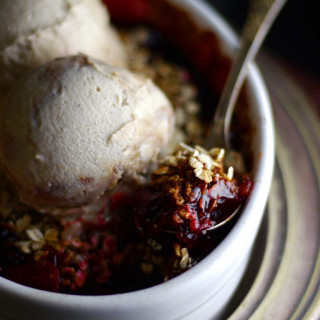 Super Simple Balsamic Plum Oat Crumble