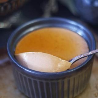 Carob Cinnamon Eggless Custard