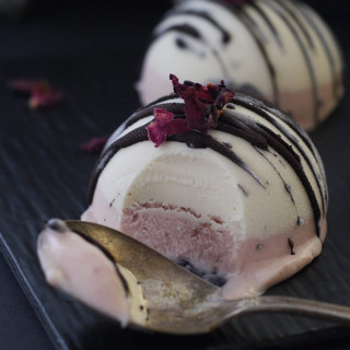 Neapolitan Ice Cream Bombs