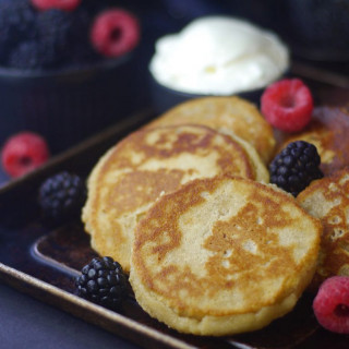 Grain-Free Vegan Cheese Pancakes (Syrniki)