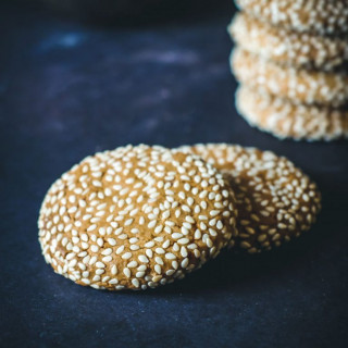 Sesame Cookies (with Orange Blossom)