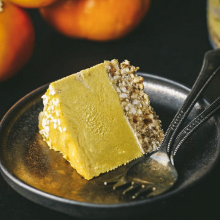 Tahini Persimmon Cheesecake