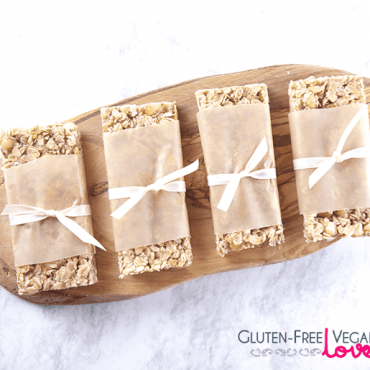 White Chocolate Macadamia Gluten-Free Vegan Granola Bars