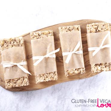 White Chocolate Macadamia Gluten-Free Vegan Granola Bars