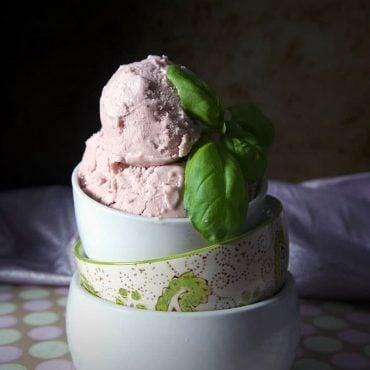 Balsamic Strawberry & Basil Dairy-Free Ice Cream Recipe {Vegan, Gluten-Free, Paleo, Refined Sugar-Free}