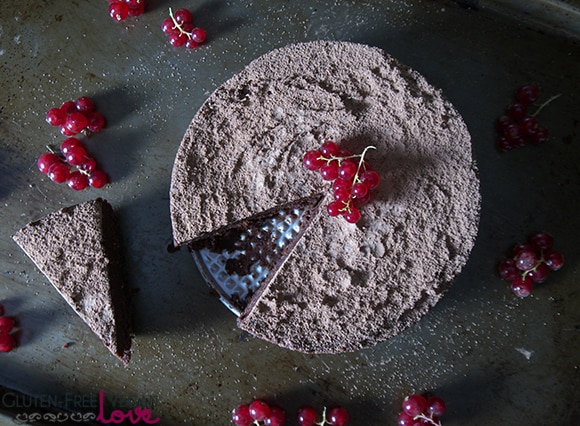 Fig and Chocolate Flourless Cake {Raw, Vegan, Gluten-Free, Grain-Free, Refined Sugar-Free}
