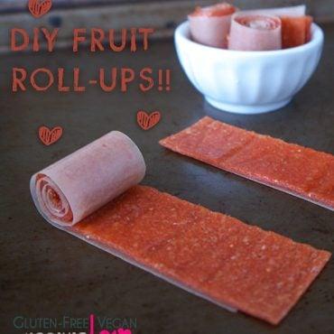 Mango Strawberry DIY Fruit Roll-Ups {Gluten-Free, Vegan, Paleo, Raw, Fruit-Sweetened}