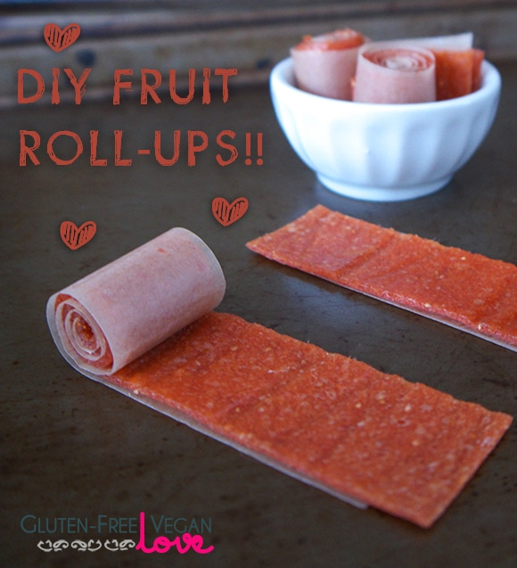 Mango Strawberry DIY Fruit Roll-Ups {Gluten-Free, Vegan, Paleo, Raw, Fruit-Sweetened}