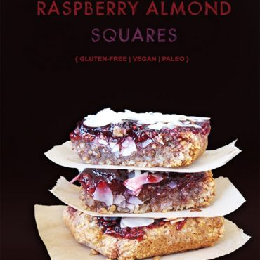 Gluten-Free Vegan Raspberry Almond Squares {Paleo & Refined Sugar-Free too}