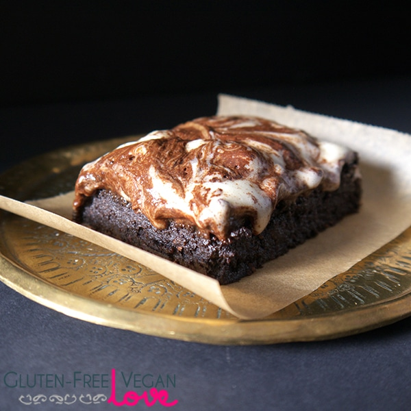 Vegan Gluten Free Brownies With Marshmallow Fluff