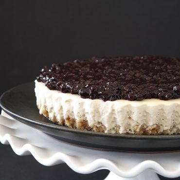 Gluten-Free Vegan Blueberry Cheesecake Tart {Paleo-friendly}