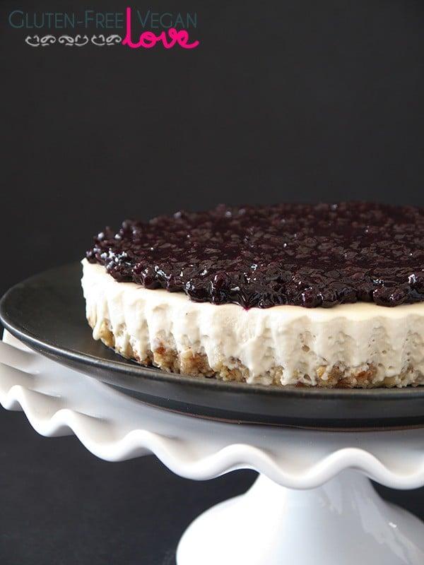 Gluten-Free Vegan Blueberry Cheesecake Tart {Paleo-friendly}