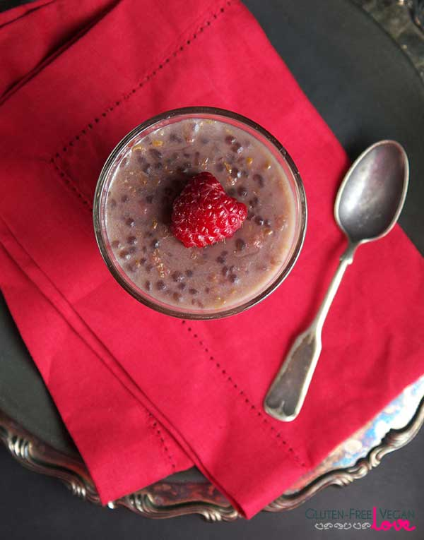 Raspberry White Chocolate Paleo and Vegan Tapioca Pudding {Gluten-Free}