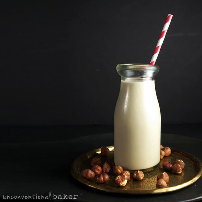DIY Fig Hazelnut Milk {Raw, Vegan, Paleo, Gluten-Free, Refined Sugar-Free, Fruit Sweetened}
