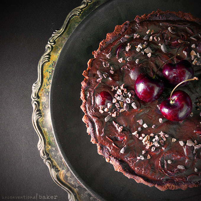 Chocolate Black Cherry Tart