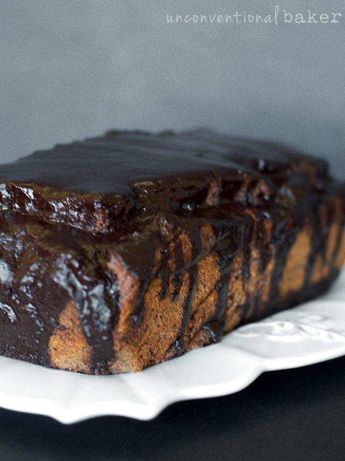 Vegan Gluten-Free Triple Chocolate Banana Bread {Refined Sugar-Free}