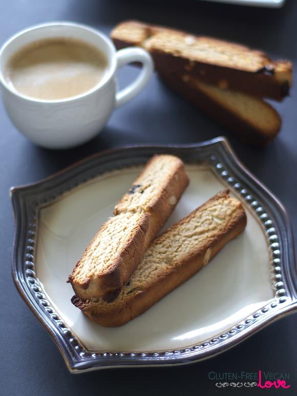 Gluten-Free Vegan and Paleo Cherry Almond Biscotti {Refined Sugar-Free}