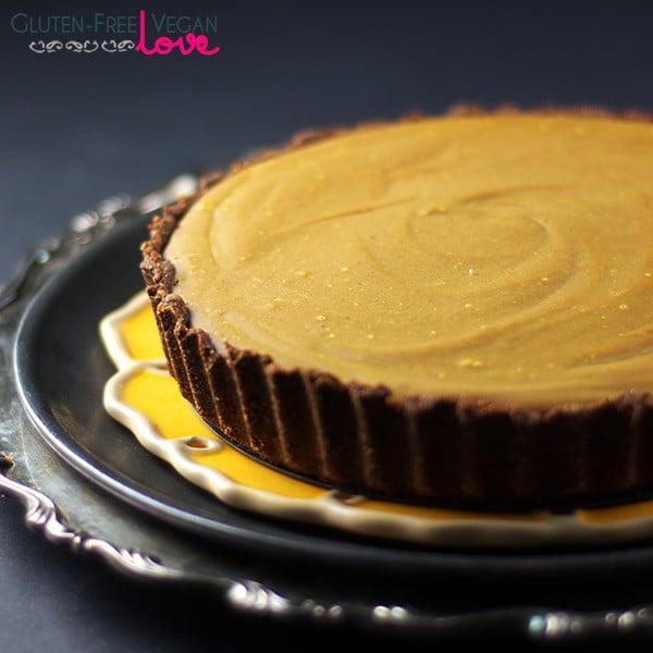 Gluten-Free, Vegan, and Paleo Carob Pumpkin Tart Recipe {AIP-Friendly, Refined Sugar-Free}