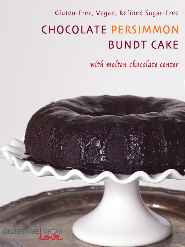 Gluten-Free Vegan Chocolate Persimmon Bundt Cake {Refined Sugar-Free ...