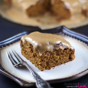 Gluten-Free Vegan Glazed Pumpkin Muffin Cake {Refined Sugar-Free}