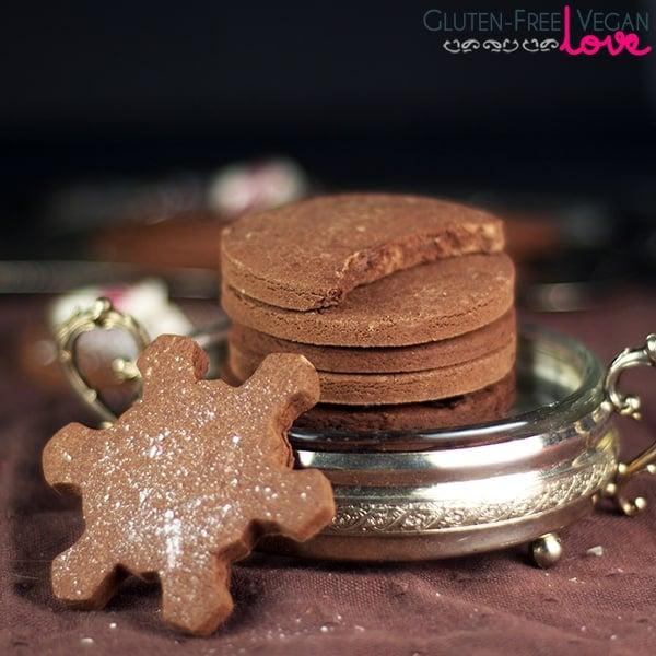 Gluten-Free Vegan Chocolate Cut-Out Cookies {Refined Sugar-Free}