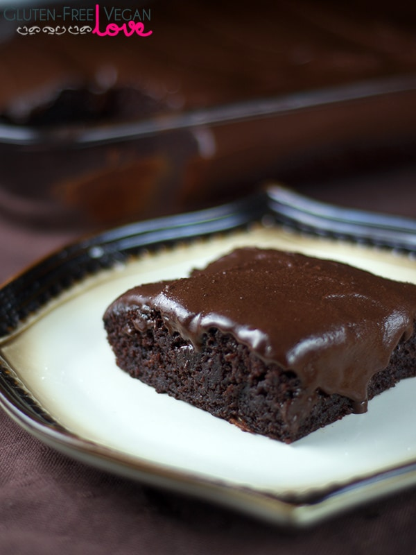 Gluten Free Vegan Chocolate Texas Sheet Cake Refined Sugar