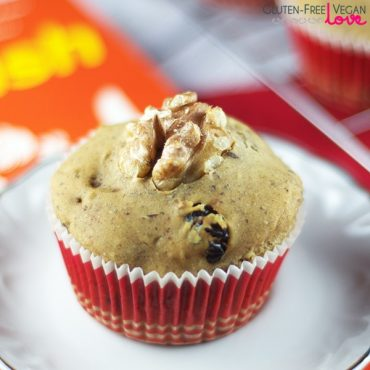 Gluten-Free Vegan Cranberry Walnut Muffins {Refined Sugar-Free} + A Giveaway!