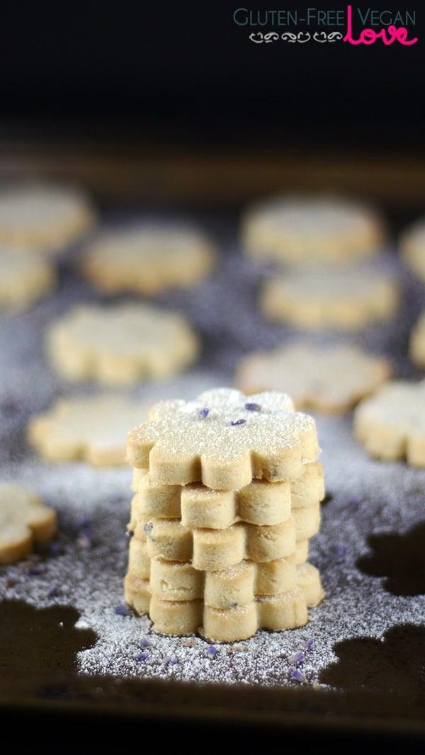 Gluten-Free Vegan Lemon Lavender Shortbread Cookies Recipe {Refined Sugar-Free}