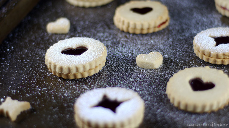 gluten-free vegan raspberry linzer cookies