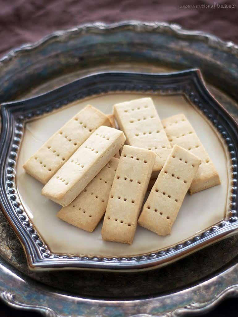 shortbread cookies -- a gluten-free, vegan, and refined sugar-free recipe