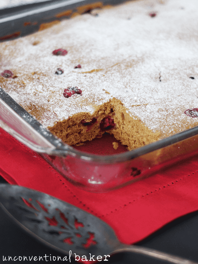 Cranberry Apple Coffee Cake Using Frozen Cranberries