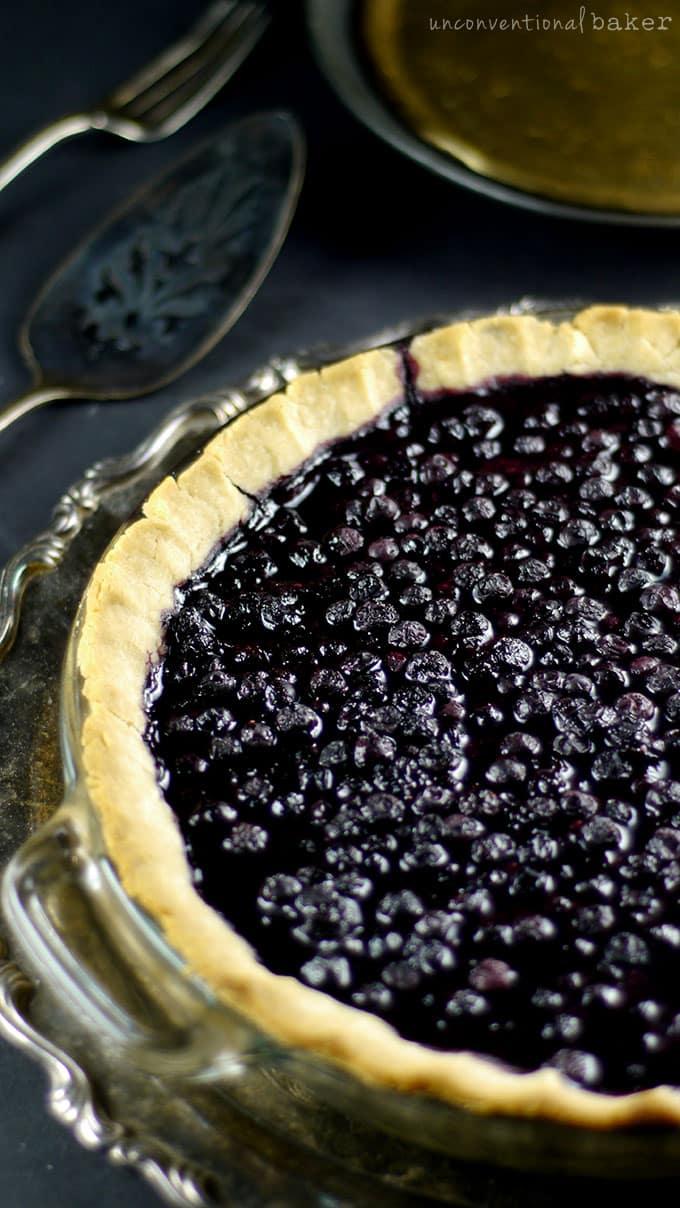 Cardamom Blueberry Pie {Gluten-Free, Vegan, Refined Sugar-Free}
