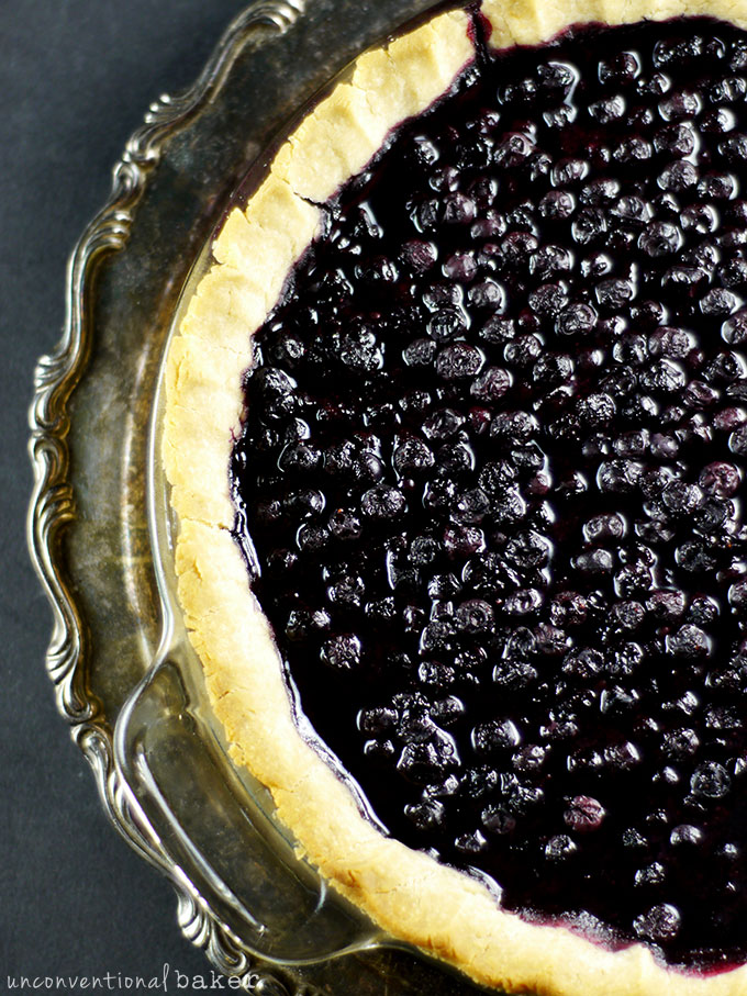 Cardamom Blueberry Pie {Gluten-Free, Vegan, Refined Sugar-Free}