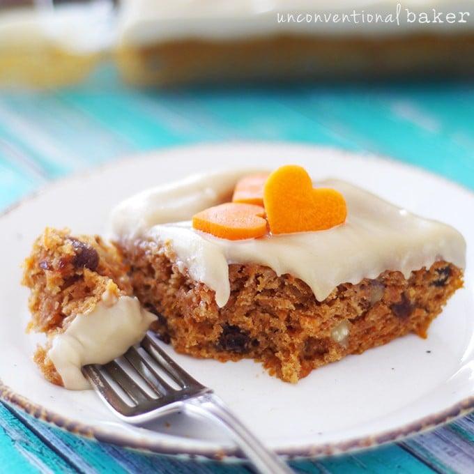 Healthified Carrot Cake Gluten Free Vegan Refined Sugar