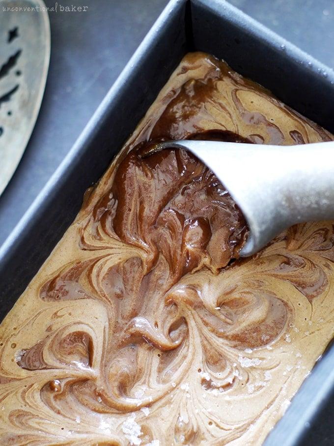 Caramel Swirl Ice Cream {No Churn, Raw, Dairy-Free & Refined Sugar-Free}