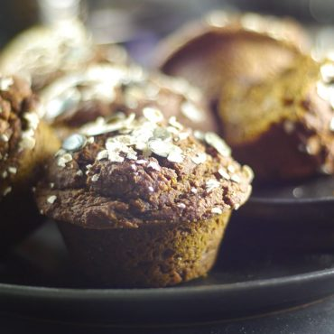 Pumpkin Molasses Breakfast Muffins (Free from: gluten, dairy, eggs, refined sugars, gums, and oil)