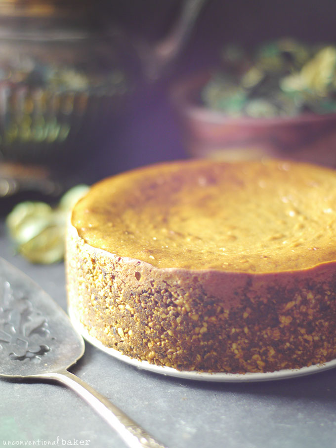 Easy Baked Cheesecake (Without the Dairy, Eggs, Oil, Soy, Refined Sugar, Grains or Gluten!)
