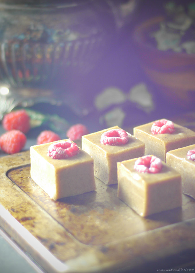 Raw Raspberry Almond Marzipan Fudge (Free from: dairy, gluten & grains, and refined sugars)