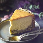 Nut-Free & Dairy-Free Baked Cheesecake (Also free from: gluten & grains, oils, eggs, and refined sugar)