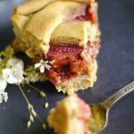 Strawberry Rhubarb Lime Pie (Free from: gluten, dairy, added oils, & refined sugar)