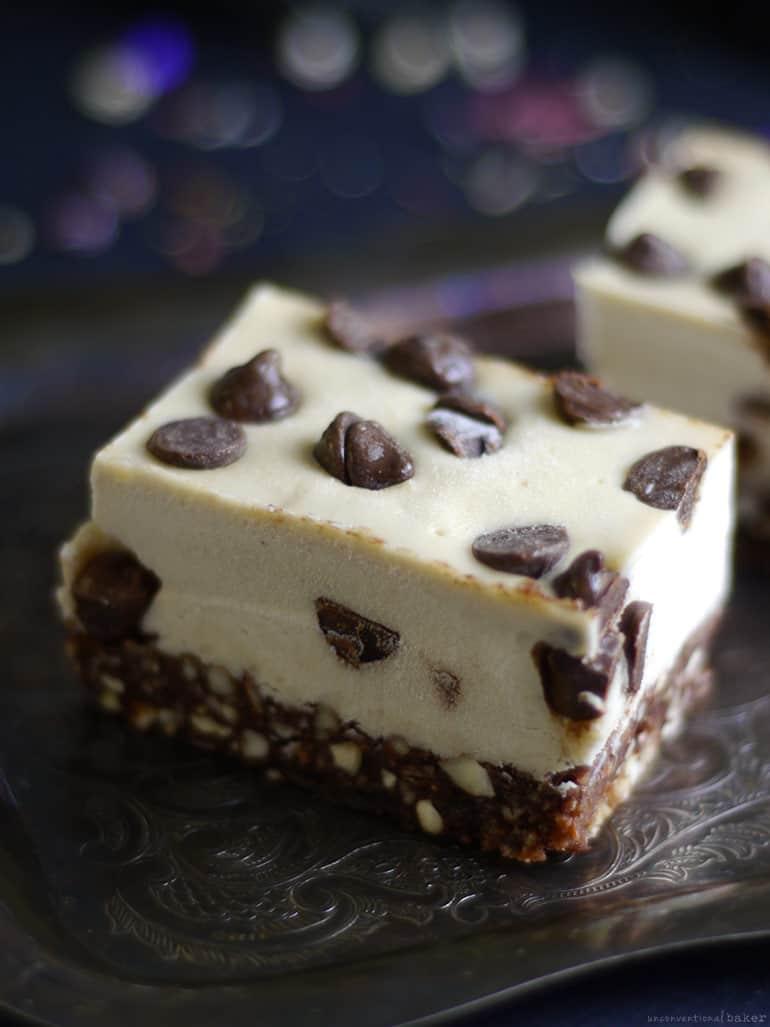 Raw Chocolate Chip Slice (Free From: dairy, gluten & grains, refined sugar)