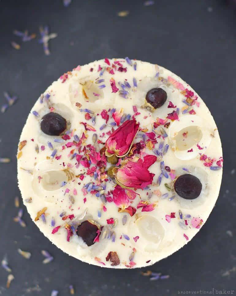 Longan Raw Cheesecake (Free From: gluten & grains, dairy, refined sugar)