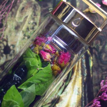 Basil Rose and Berry Infused Water