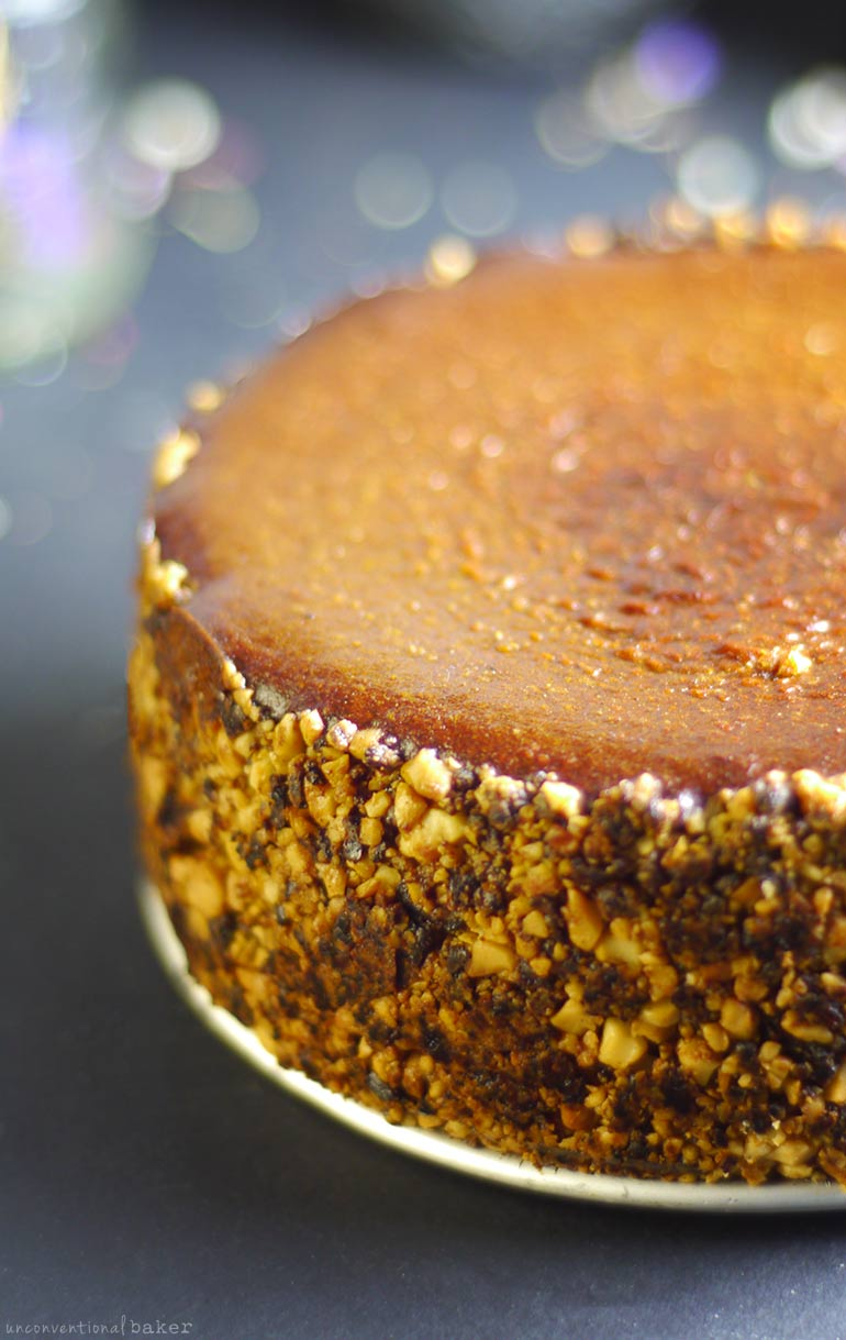 Baked Pumpkin Cheesecake (Free From: dairy, gluten & grains, eggs, added oils, refined sugar)