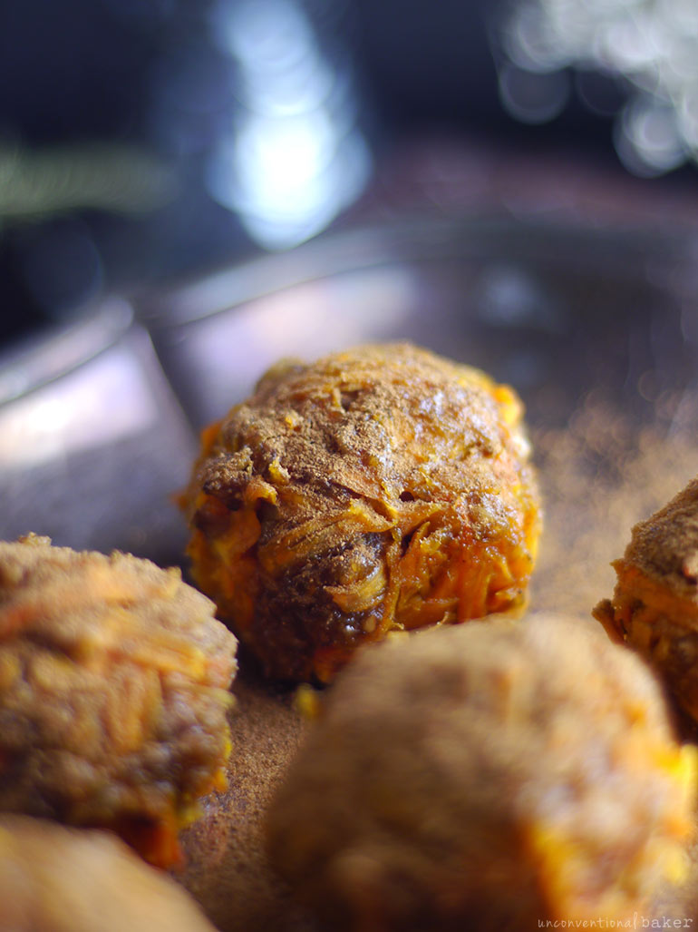 Spiced Butternut Squash Dessert Bites (Raw, Fruit-Sweetened, & Free From: gluten & grains, dairy, oils, and with nut-free option)