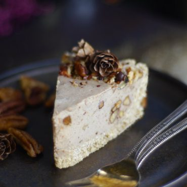 Pecan Pie Cheesecake (No-Bake & Free From: dairy, gluten, soy, and refined sugar. With grain-free option)