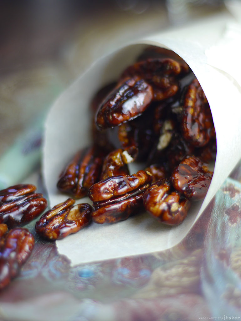 Maple Candied Pecans (Refined Sugar-Free)