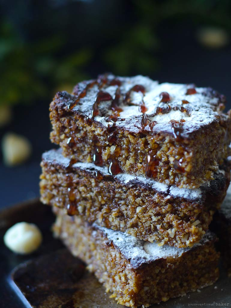 Coconut Macadamia Date Caramel Bars (Free From: gluten & grains, dairy, eggs, added oils, and refined sugar)